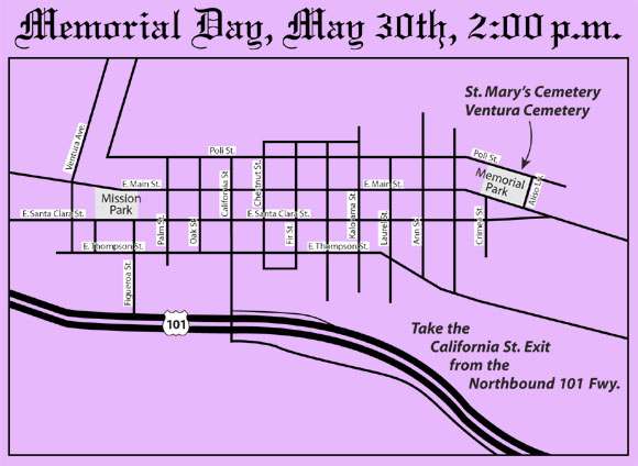 Mem Day route